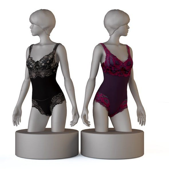 Underwear, bras, panties, thongs - 3DOcean Item for Sale