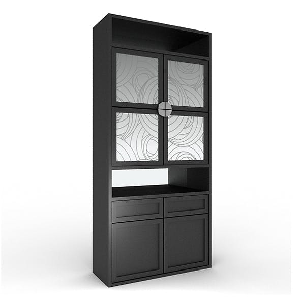 Black bar cabinet 1 - 3DOcean Item for Sale