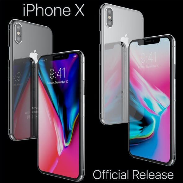 Apple iPhone X Silver and Space Gray Official Release