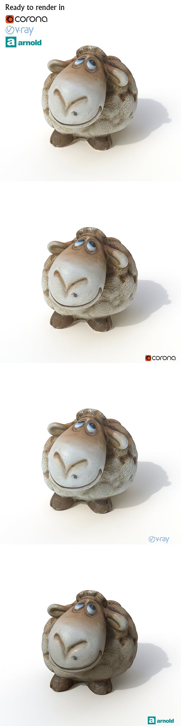 Statuette Sheep - 3DOcean Item for Sale