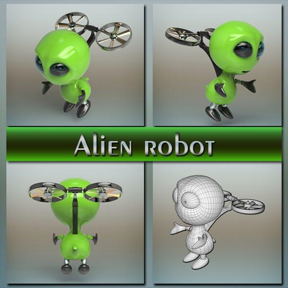 Alien robot - 3DOcean Item for Sale