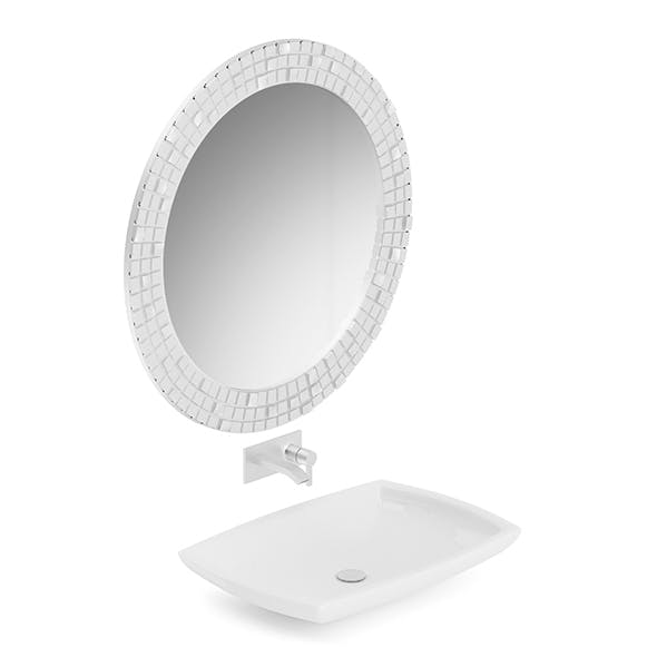 Washbasin and a Mirror