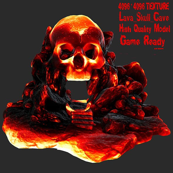 lava skull cave 1 - 3DOcean Item for Sale