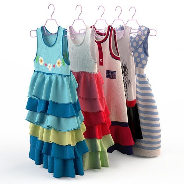 Children clothing girl dresses
