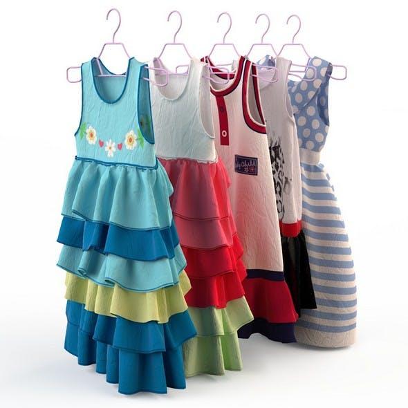 Children clothing girl dresses