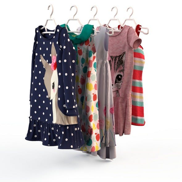 Baby Girl Clothes 7 - 3DOcean Item for Sale
