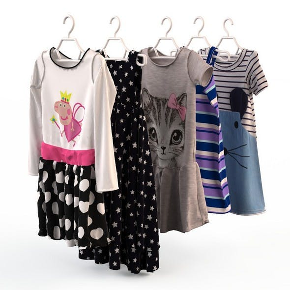Baby Girl Clothes - 3DOcean Item for Sale