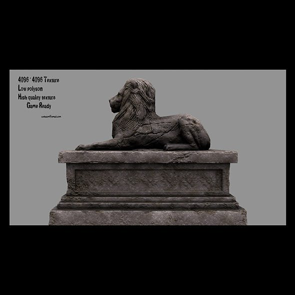 Lion Statue 13 - 3DOcean Item for Sale