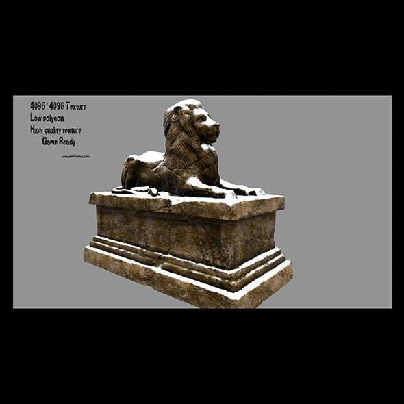 Lion Statue 14 - 3DOcean Item for Sale
