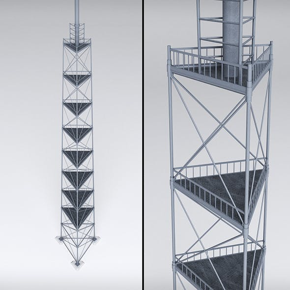 Scaffolding radio tower power