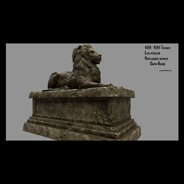 Lion Statue 15 - 3DOcean Item for Sale