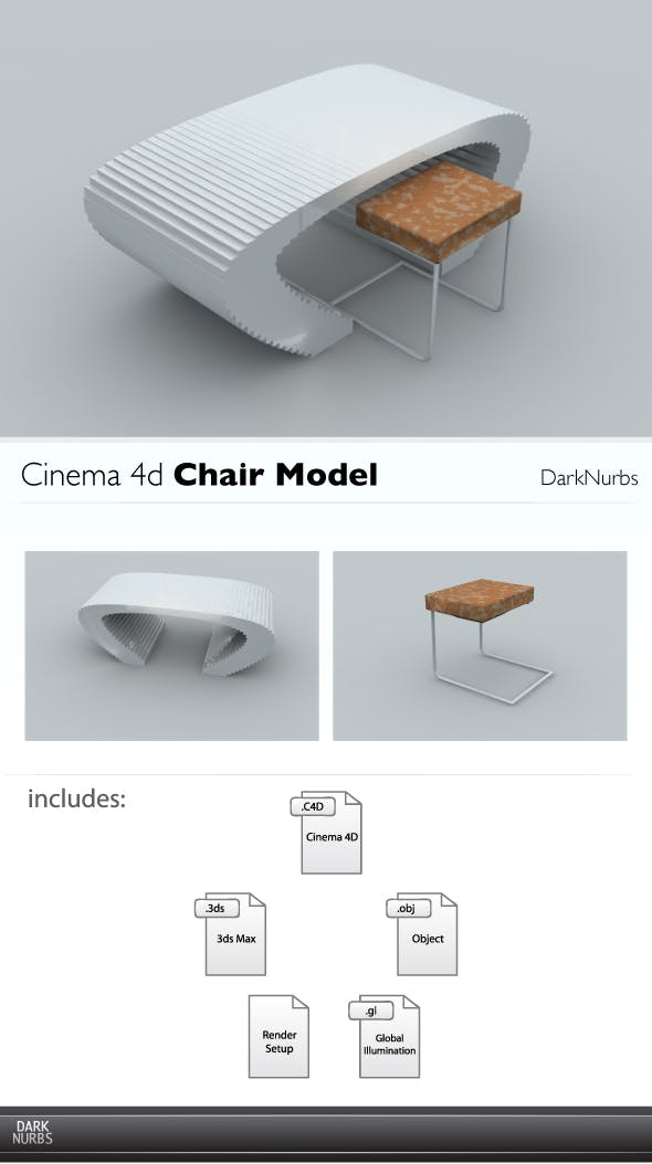 Cinema 4d Unique Style Table and Chair - 3DOcean Item for Sale