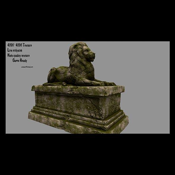 lion statue 19