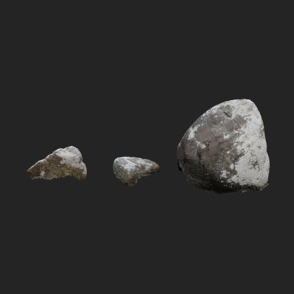 3d scanned stones 3 stones
