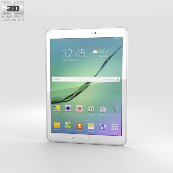 Samsung Galaxy Tab S2 9.7-inch White - 3DOcean Item for Sale