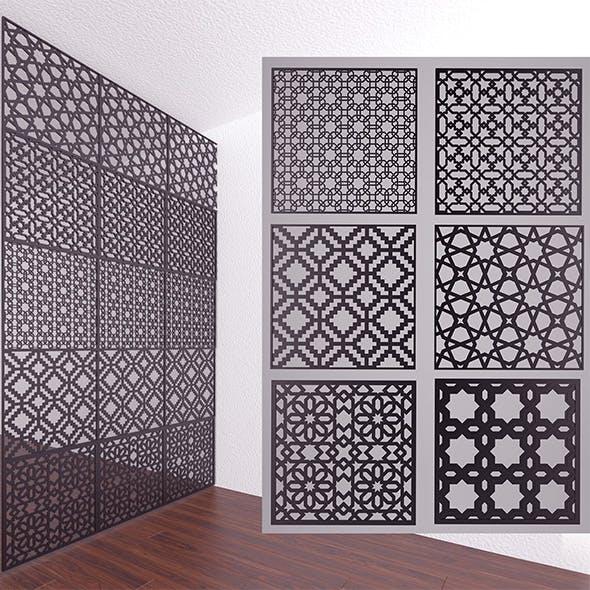 3d Decor Panels - 3DOcean Item for Sale