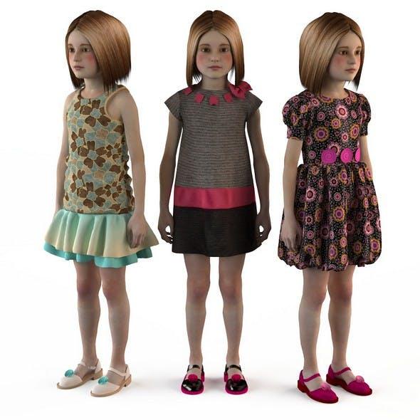 Baby dress mannequin girls skirt set