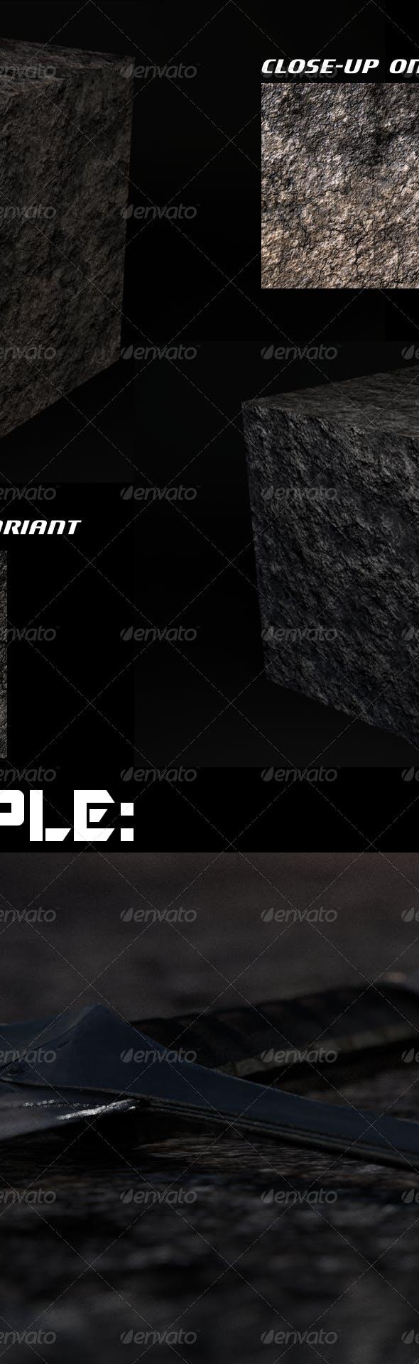 Black Rock Terrain - Tileable (Plus Bonus Variant) - 3DOcean Item for Sale