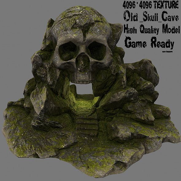 skull cave 5 - 3DOcean Item for Sale