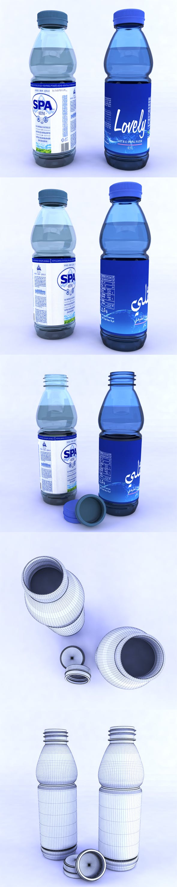 Plastic bottle - 3DOcean Item for Sale