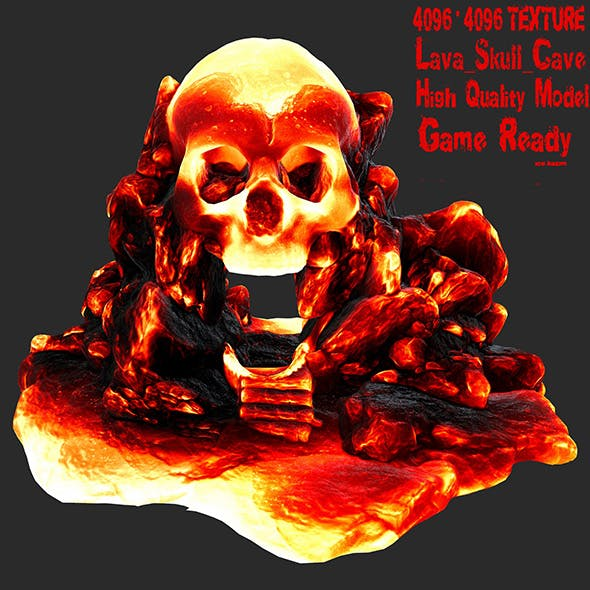 lava skull cave 2 - 3DOcean Item for Sale
