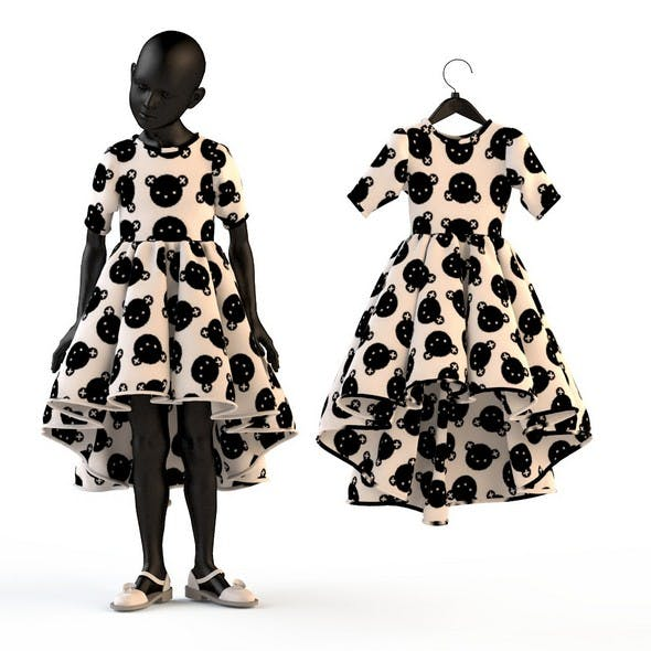 Child Baby girl dress - 3DOcean Item for Sale