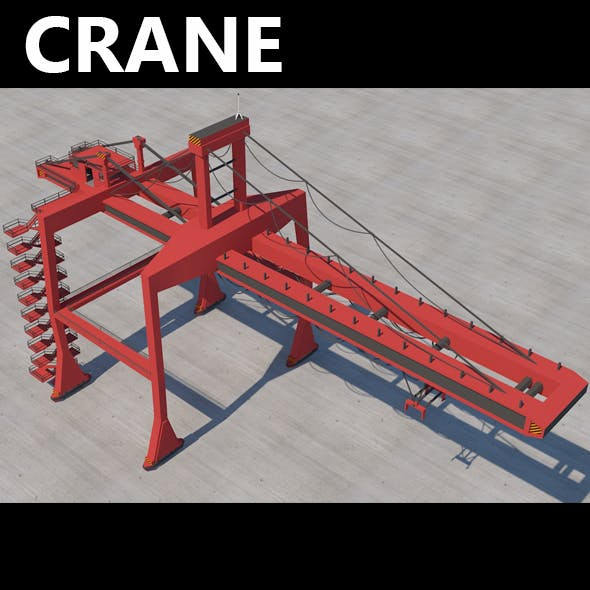 Big Red Crane of Ports
