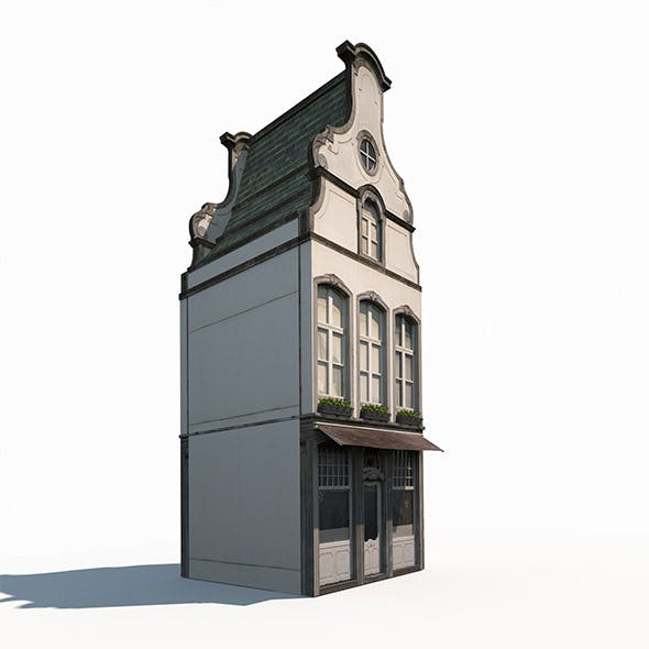 Building Facade 182 Low Poly - 3DOcean Item for Sale