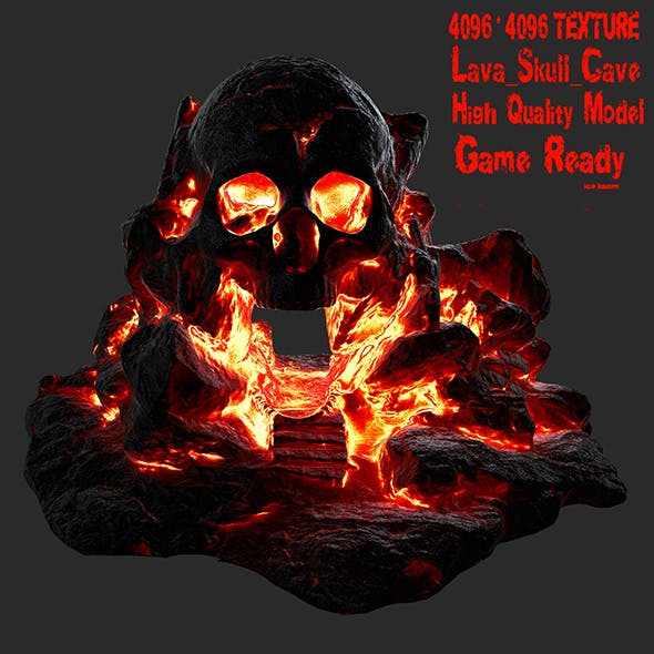 lava skull cave 7 - 3DOcean Item for Sale