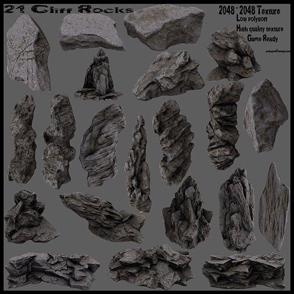 cliff rocks set