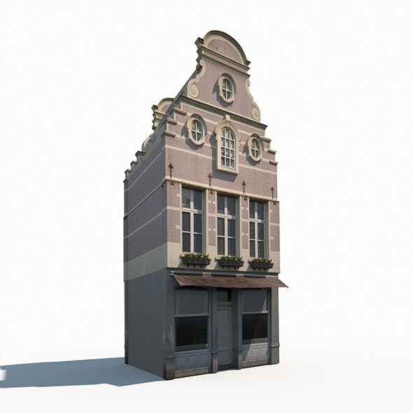 Building Facade 183 Low Poly - 3DOcean Item for Sale