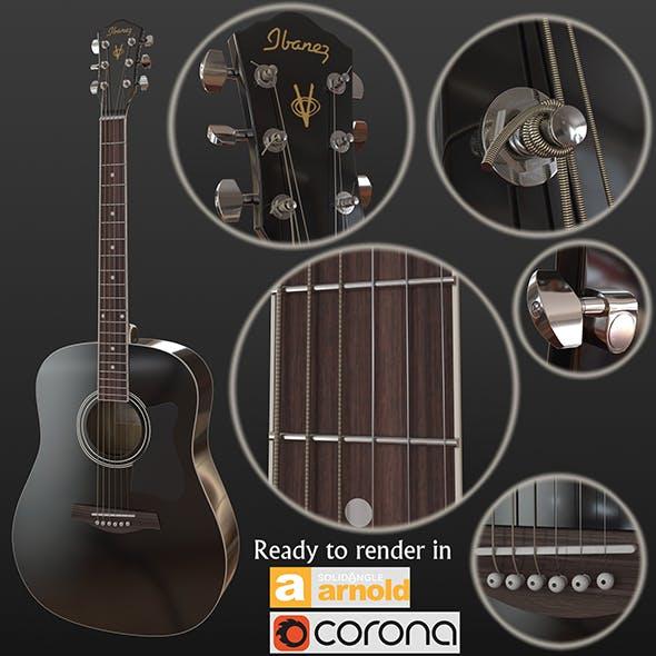 Guitar black - 3DOcean Item for Sale