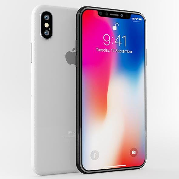 Apple iphone X White & Gray