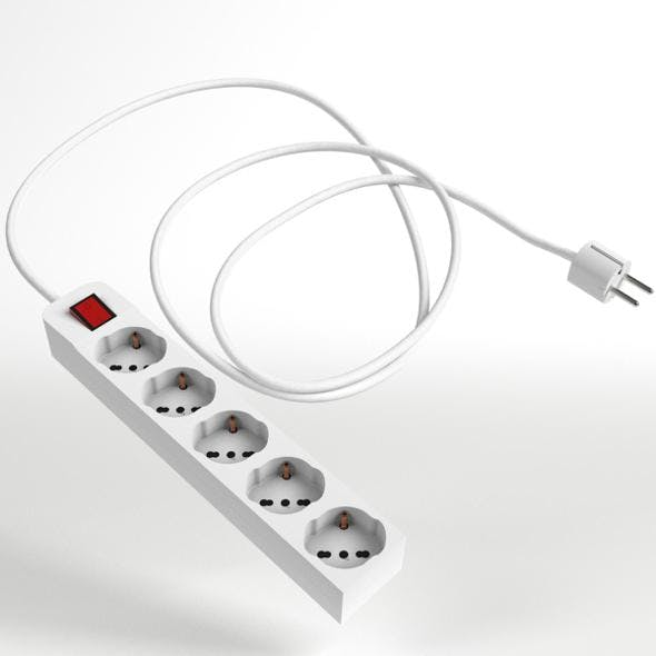 Schuko Strip and Plug 2 - 3DOcean Item for Sale