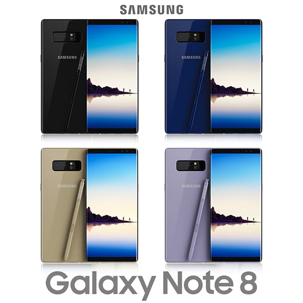 Samsung Galaxy Note 8 All Colors