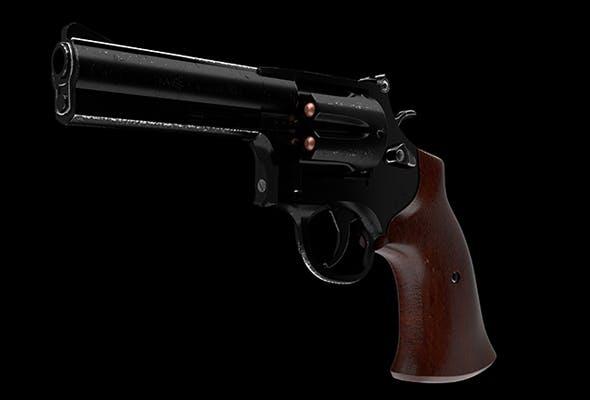 RevolvergGun six-shot - 3DOcean Item for Sale