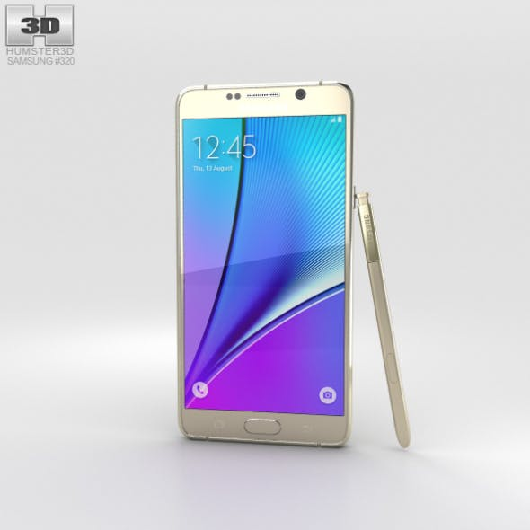 Samsung Galaxy Note 5 Gold Platinum - 3DOcean Item for Sale