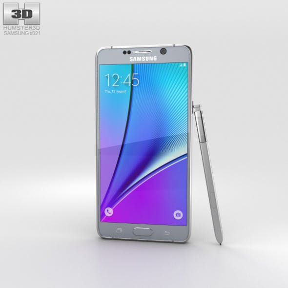 Samsung Galaxy Note 5 Silver Titan - 3DOcean Item for Sale