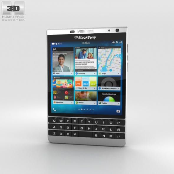 BlackBerry Passport Silver Edition - 3DOcean Item for Sale
