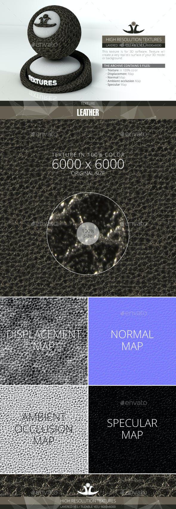 Black Leather - 3DOcean Item for Sale