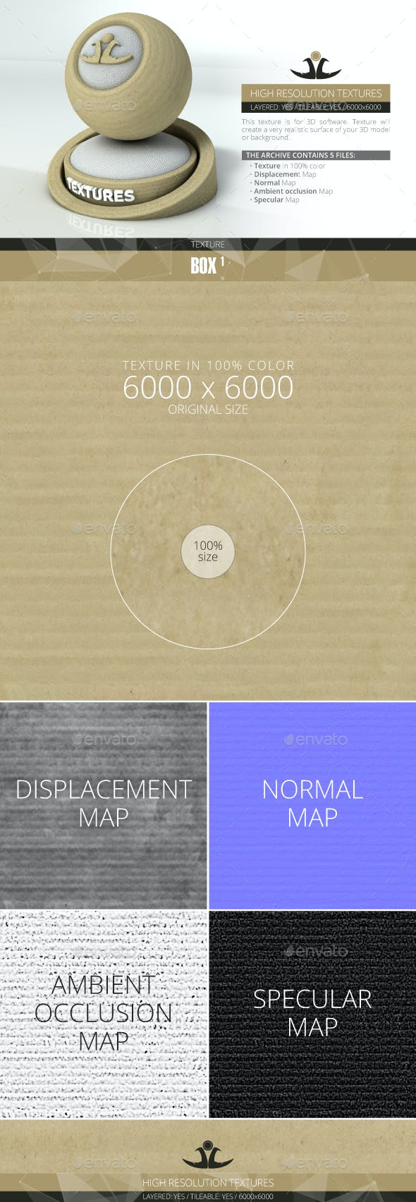 Corrugated Box Surface - 3DOcean Item for Sale