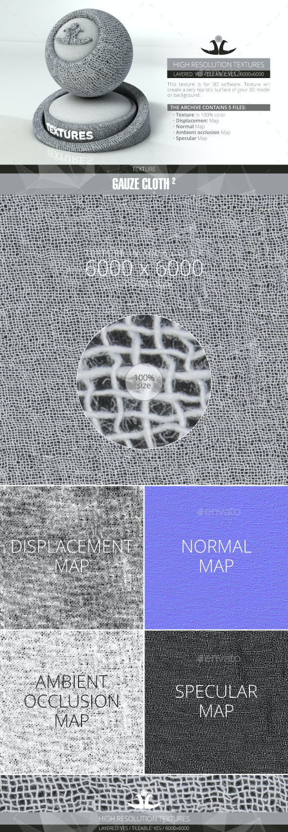 Gauze Cloth 2 - 3DOcean Item for Sale