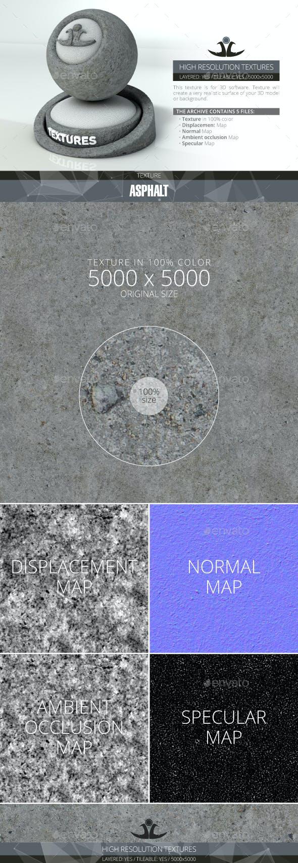 Asphalt - 3DOcean Item for Sale