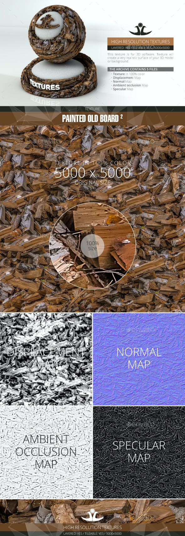 Firewood - 3DOcean Item for Sale