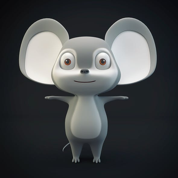 Cartoon Mouse Gray