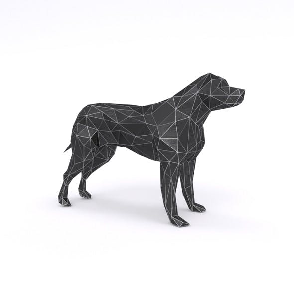 Pitbull low poly - 3DOcean Item for Sale