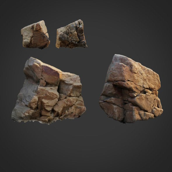 3d scanned nature stone 010 - 3DOcean Item for Sale
