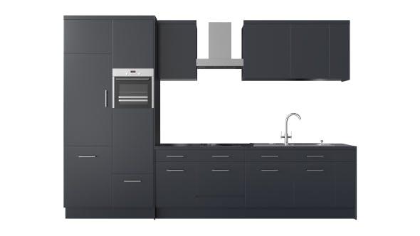 Photorealistic Modern Kitchen Furniture 3D Model - 3DOcean Item for Sale