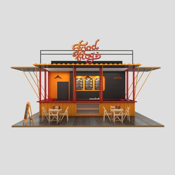 3D Cafe Design by creative3d | 3DOcean