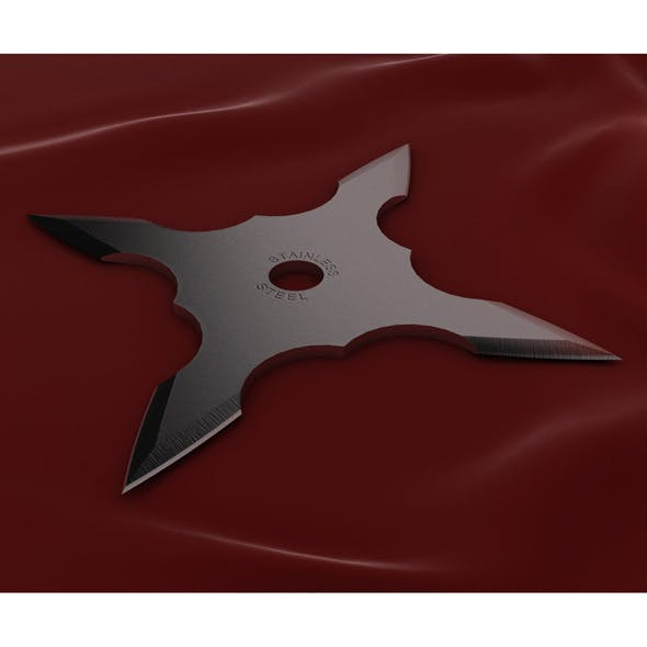 4 Point Shuriken - 3DOcean Item for Sale
